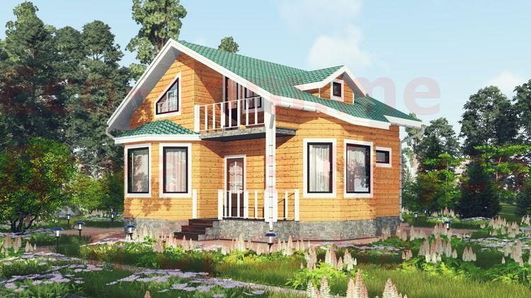 Дом из бруса под ключ в Павлово