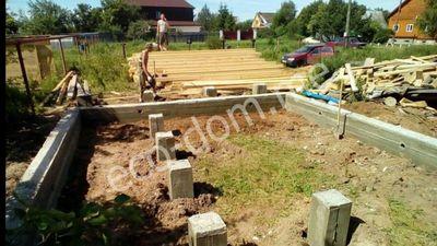 Заливка ленточного фундамента в Смоленске