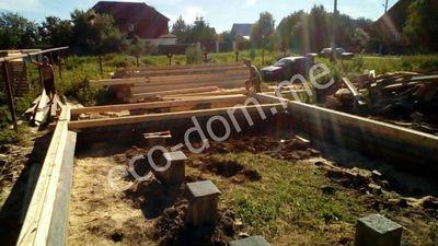 Заливка ленточного фундамента в Серпухове
