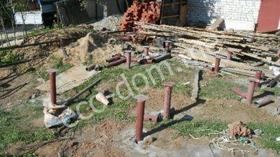Фундамент на винтовых сваях в Коврове